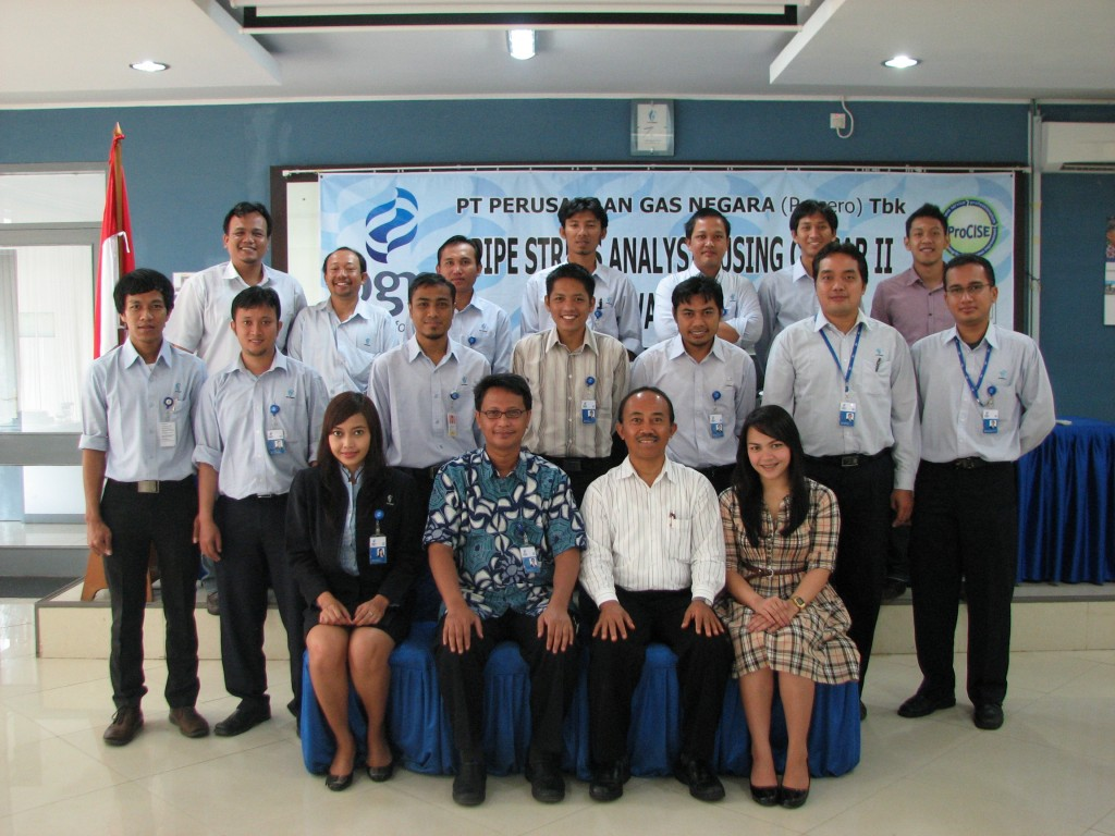 IHT PIPESTRESS ANALYSIS USING CAESAR II SOFTWARE (BATCH I) PT. PGN (PERSERO) TBK. 13-17 FEB 2012