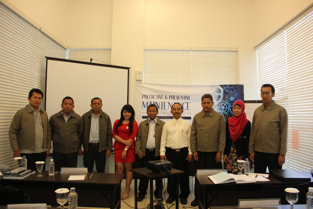 PUBLIC TRAINING PREDICTIVE & PREVENTIVE MAINTENANCE 29 OKT - 1 NOV 2012
