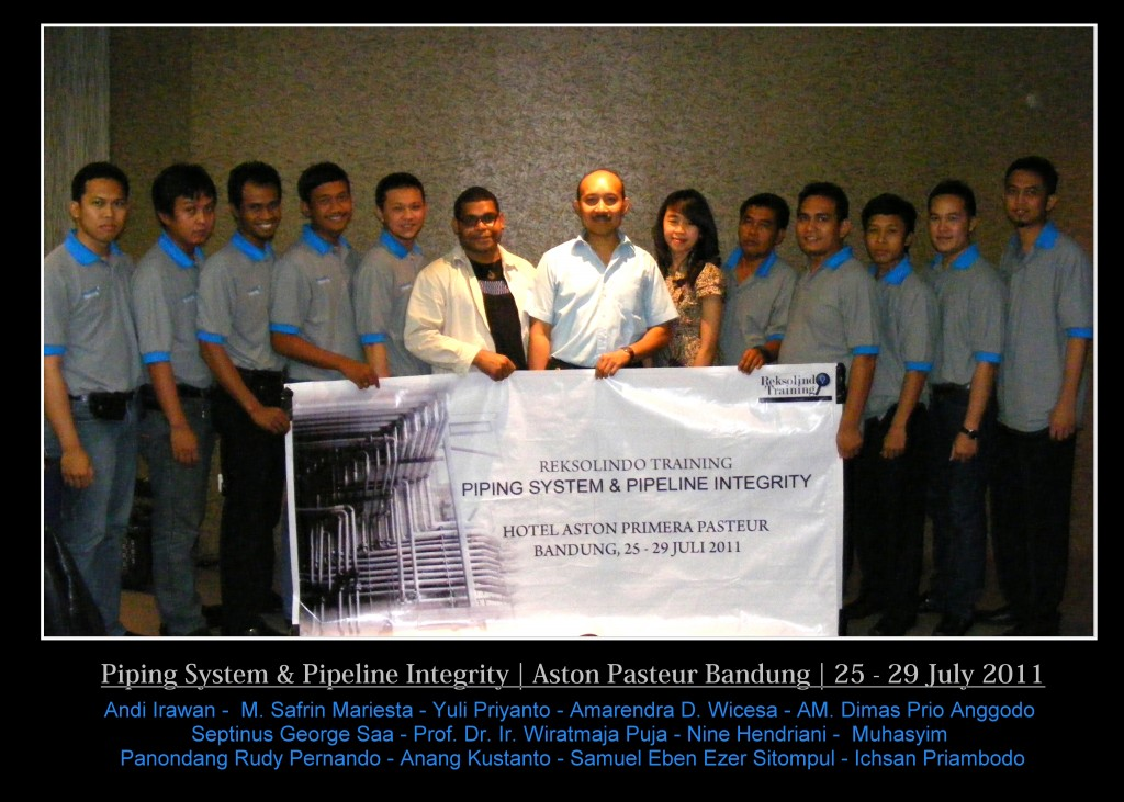 Public Training Piping System & Pipeline Integrity 25 - 29 Juli 2011