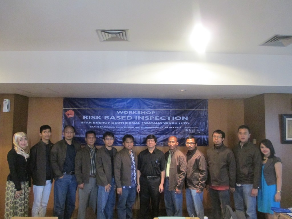 WORKSHOP RISK BASED INSPECTION SYSTEM STAR ENERGY GEOTHERMAL WAYANG WINDU LIMITED 02-04 OKT 2013